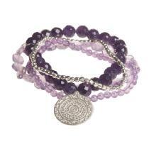Mandala Charm Stretch Bracelet Set