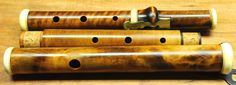 Antique - Firth, Hall & Pond - 1-key boxwood flute - flamed boxwood #FirthHallPond