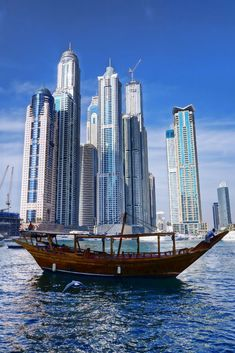 View of Dubai from its marina. #Dubai #MiddleEast #marina