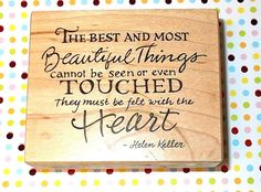 PSX F-2843 Helen Keller quote rubber stamp Wood mounted 90's Journaling scrapbooking stamping card making craft stamps beautiful things by NoodlesNotions on Etsy