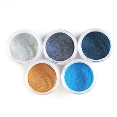 Glitter Palette - Beach contains 5 new exclusive glitter colors Pebble BlueSilver Sand Sand Dunes Ocean Blue Midnight Blue Jar Elizabeth Craft Designs, Card Making Supplies, Close To My Heart, Design Crafts, Midnight Blue, Craft Projects, Palette, Glitter, Beach