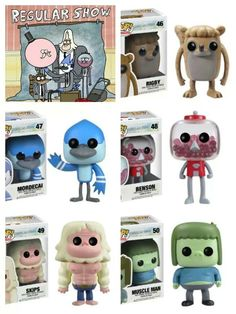 Regular Show Pop! vinyl figurines--WHERE THE HELL DO I GET THESE???!!?!?!  I WANT THE WHOLE SET!!!~Andy