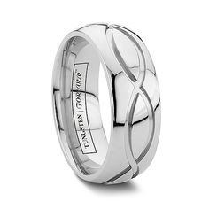 DUBLIN-Connected Unique Infinity Cobalt Chrome Wedding Band