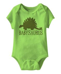 Look at this Key Lime 'Babysaurus' Bodysuit - Infant on #zulily today!