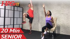 20 Min Exercise for Seniors, Elderly, & Older People - Seated Chair Exercise Senior Workout Routines - YouTube
