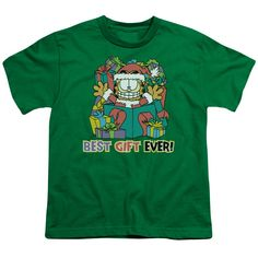 """Checkout our #LicensedGear products FREE SHIPPING + 10% OFF Coupon Code """"Official"""" Garfield / Best Gift Ever-short Sleeve Youth 18 / 1-kelly Green-sm - Garfield / Best Gift Ever-short Sleeve Youth 18 / 1-kelly Green-sm - Price: $29.99. Buy now at https://officiallylicensedgear.com/garfield-best-gift-ever-short-sleeve-youth-18-1-kelly-green-sm"""