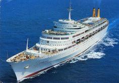 Vintage postcard of the P&O liner ss Canberra tons). Arthur Dixon, about Floating Hotel, P&o Cruises, Falklands War, Merchant Navy, Submarines, Royal Navy, Battleship, Sailing, Cruise Ships