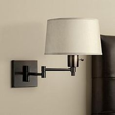 Real Simple Black Matte Plug-In Swing Arm Wall Lamp is a quality Wall Lamps for your home decor ideas. Plug In Wall Lamp, Apartment Lighting, Bedroom Lighting, Swing Arm Wall Lamps, Large Lamps, Modern Wall Sconces, Cool Lamps, Wall Outlets, Contemporary Lamps