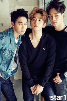 EXO's Suho, Baekhyun And Chen Star1 Magazine August Photoshoot 2015