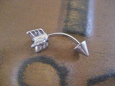 Arrow Eyebrow Rook Conch Snug Helix Cuff Ear Eye door Azeetadesigns