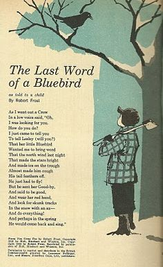 vintage - The Last Word of a Bluebird by Robert Frost