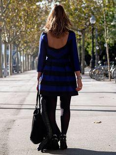 Miss trendy Barcelona: Rayas en azul y negro