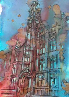 Manchester Art Prints - Artwork - Unique Art from Manchester Artists Manchester Art, Unique Art, Fine Art Prints, Artists, Landscape, City, Illustration, Artwork, Painting
