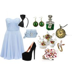 Modern day Alice - Polyvore