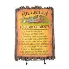 Hillbilly Commandments