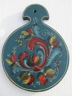 Norwegian Rosemaling in Telemark Style on a by Folkartbycathy