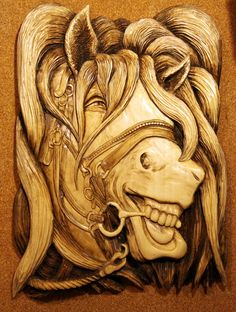 woodworking for beginners Wood Carving Designs, Wood Carving Art, Woodworking Business Ideas, Woodworking Plans, Woodworking Projects, Wood Sculpture, Sculptures, Horses And Dogs, Wood Working For Beginners