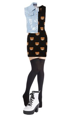 """Moshino #2"" by yuki-akemi ❤ liked on Polyvore featuring Moschino"