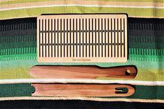 Saami weaving kit shuttle sword and heddle. rigid heddle.