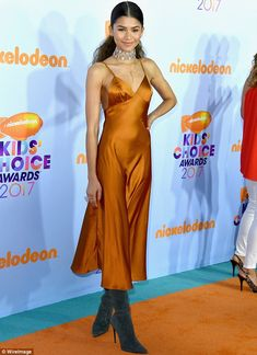 Big arrival: Zendaya, 20, made a showstopping appearance at Nickelodeon's 2017 Kids' Choic...