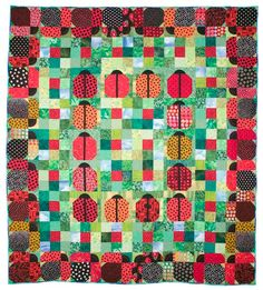 Ladybugs on Parade Quilt Pattern by lnownes on Etsy, $9.99  [Turn the ladybugs to make them march around clockwise and counter-clockwise]
