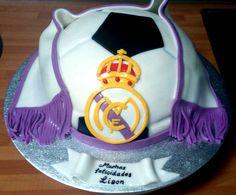 Tarta balón Real Madrid (¡¡¡ y Aupa Atleti !!!)
