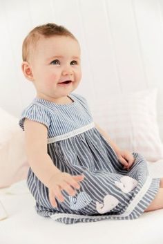 Buy Blue Stripe Dress With Knickers Set (0mths-2yrs) online today at Next: United States of America