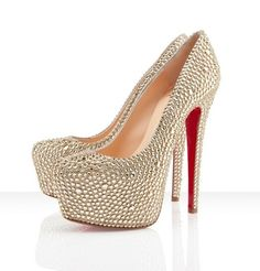 Christian Louboutin Daffodile 160mm Strass Pumps Gold