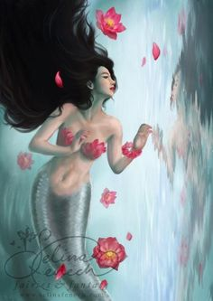 Selina Fenech Mermaid Art Selina Fenech – Fairy Art and Fantasy Art Gallery Fantasy Creatures, Mythical Creatures, Sea Creatures, Mermaid Fairy, Mermaid Tale, Fantasy Mermaids, Mermaids And Mermen, Project Mermaid, Dragons