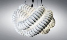 Lamp shade Cumulus L is made of PVC
