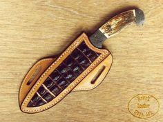 Horizontal Leather Knife Sheaths   Belt Slide (Pancake Style)
