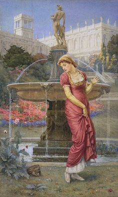 "Edward Frederick Brewtnall (1846-1902), ""The Princess and the Frog Prince"" by sofi01, via Flickr"