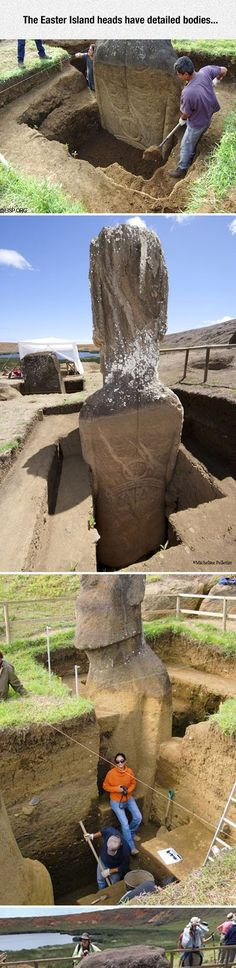 Easter Island Heads Have Bodies Too