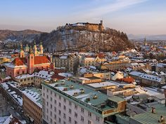 SLOVENIA, LJUBJANA, Winter Views from Nebotičnik (City Hearth) by Union*, via Flickr