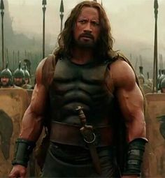 The Rock as a bearded Hercules