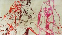 ASALTO témperas líquida sobre papel escenográfico 0,45  x  0,70 m.