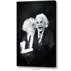 NEW! Albert Einstein + Marilyn Monroe, BEAUTY and the BRAIN Canvas Art. ©2015 | Apply 20% OFF - Promo Code MERRY20 www.brailliant.com