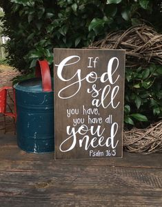 God is all you need you have all you need wooden by WoodfairySigns