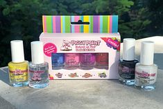 Piggy Paint - Tried and True by Trista Non-toxic, scented polishes made for kids.