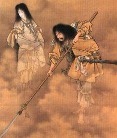 Shintoism - Izangi and Izanami - The two kami who gave birth to Japan.