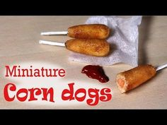 Miniature Corn Dog - Polymer Clay Tutorial - YouTube
