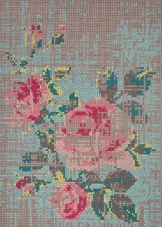 Canevas Cross Stitch Collection by Charlotte Lancelot for GAN - Cross Stitching, Cross Stitch Embroidery, Cross Stitch Patterns, Tapis Design, Cross Stitch Collection, Le Point, Modern Rugs, Contemporary Rugs, Textile Art