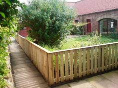 I like this fence for front yard instead of traditional picket | 3ft high capped palisade fence front garden edinburgh
