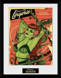 Poison Ivy - Batman - DC Comics Bombshells - Big Framed Collector Print. 25mm Moulding. Shatter Proof Styrene. Official Merchandise. FREE SHIPPING