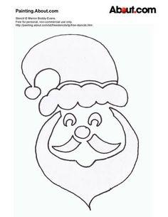 printable+stencils | ... Father Christmas Stencil -- Printable Free Father Christmas Stencil