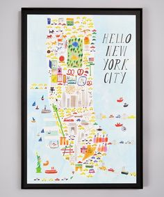 Seeking a mini vacation? Opt for this scenic print that transports you to the hustle and bustle of New York with all the whimsy and none of the traffic jams. Frame not W x HPaperMade in the USA