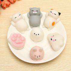 Mochi Cat Kitten Squishy Squeeze Cute Healing Toy Kawaii Collection Stress Reliever Gift Decor