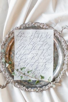 Calligraphy by Sarah Pearl Studio, Photography by Jennifer Munoz Luminous Fine Art Boudoir: