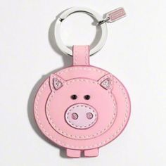 Coach pig key chain <3<3<3