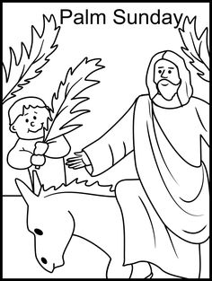 18 Best Palm Sunday Coloring Pages Images In 2019 Easter Palm
